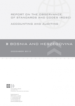 Bosnia and Herzegovina Accounting and Auditing Report on the Observance of Standards and Codes cover